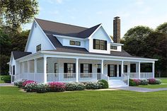Country House Plans with Wrap Around Porch . Country House Plans with Wrap Around Porch . Farmhouse House Plans with Wrap Around Porch — Jayne Modern Farmhouse Plans, Farmhouse Design, Rustic Farmhouse, Farmhouse Style, Farmhouse Interior, Porch House Plans, House With Porch, Country House Plans, House Wrap Around Porch