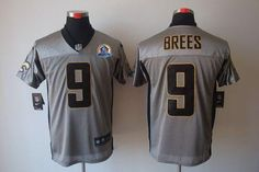 2eb29e1c920 Bart Starr jersey Nike Saints Drew Brees Grey Shadow With Hall of Fame  Patch Men s Stitched NFL Elite Jersey Giants Victor Cruz 80 jersey Leonard  Williams ...