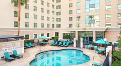 Residence Inn by Marriott Las Vegas Hughes Center Las Vegas Located just a mile from the heart of The Strip, this Las Vegas hotel features a daily hot buffet breakfast and no resort fees. All suites include free Wi-Fi and flat-screen TVs.