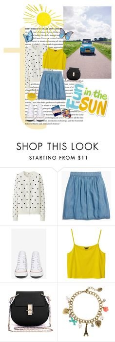 """""""#156"""" by blacksky000 ❤ liked on Polyvore featuring Uniqlo, Madewell, Converse, Monki, claire's and Nur Donatella Lucchi"""