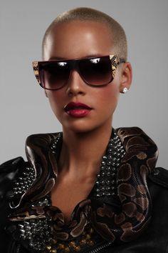 Amber Rose wearing Vintage Frames Company Trouser Snake Sunglasses