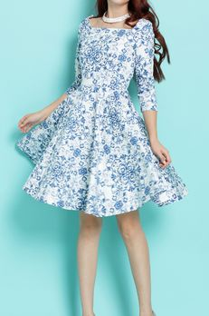 Preorders Jackie O Venetian Flair Skirt Dress Y10