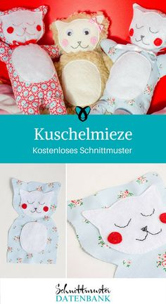 Kuschelmieze Rattle animal Cuddly toy Cat sewing free sewing pattern free Sewing instructions Baby toys Source by DIYMODEde Sewing Patterns Free, Free Sewing, Make Your Own Pillow, Art And Hobby, Baby Pillows, Baby Sewing, Needle And Thread, Cat Toys, Baby Love