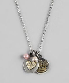 Take a look at this Heart & Crown Charm Necklace by Sugar & Vine on #zulily today!