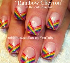 Nail-art by Robin Moses - MORE rainbow nail art in my cute or hot playlist on youtube!