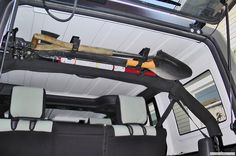 shovel and axe storage in a jeep...avoid rust!