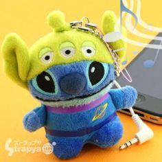 Disney Stitch x Little Green Men Speaker Plush Doll (C)Disney Stitch puts on the costume of Lit...