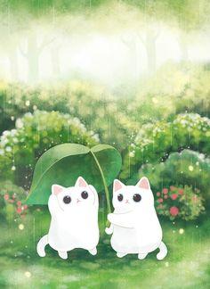 보들캣/고양이 일러스트 : 네이버 블로그 I Love Cats, Crazy Cats, Cute Cats, Cute Cat Wallpaper, Cartoon Wallpaper, Cute Cat Drawing, Cute Drawings, Animals Watercolor, Kawaii Cat