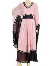 aljalabiya.com: Pink Jalabiya with Morrocan belt and French sleeves (WN-706)  $248.00