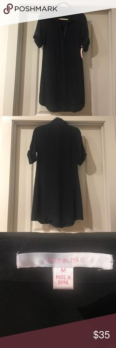 Jenny Han Black 100% Silk Shirt Dress NWT Jenny Han Black 100% Silk Shirt Dress NWT jenny han Dresses