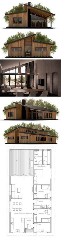 Small House Plan - like the floor plan but not the outside