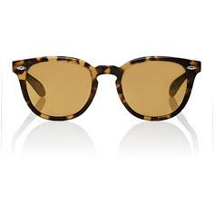 Oliver Peoples Women's Sheldrake Plus Sunglasses ($355) ❤ liked on Polyvore featuring accessories, eyewear, sunglasses, multi, tortoiseshell glasses, mirrored glasses, oliver peoples glasses, keyhole glasses and mirror lens sunglasses