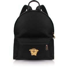 Versace Medusa Nylon Backpack (13.758.670 IDR) ❤ liked on Polyvore featuring men's fashion, men's bags, men's backpacks and mens backpack
