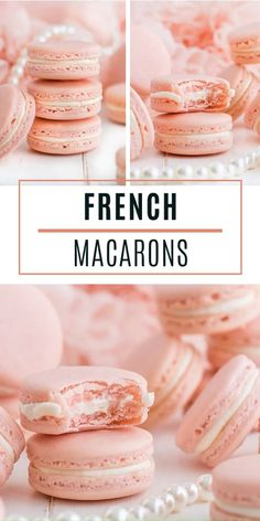 French Macarons Classic French Macarons are elegant treats perfect for a fancy Easter gathering! Indulge their smooth shiny crisp top, chewy inside texture, and the scrumptious filling mushed in betwe Easy Macaroons Recipe, French Macaroon Recipes, French Macaroons, French Macaron Filling, French Macarons Recipe Flavors, No Fail Macaron Recipe, Macarons Filling Recipe, Macaroon Filling, Vanilla Macaroons
