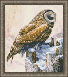 Winter Barred Owl - Cross Stitch Pattern  by Kustom Krafts