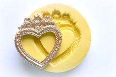0729 Victorian Vintage Heart Frame Silicone Rubber Flexible