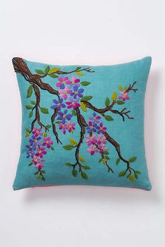 Tufted Dogwood Pillow - anthro
