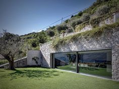 Beautiful single family home extension designed by Rocco Borromini located in Traona, Italy..