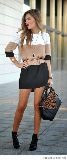 Love this dress with accessories