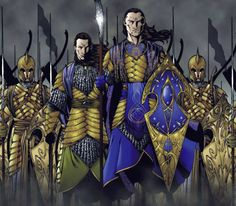 It combines the buffness of American comic books and the scariest looking elves I have ever seen. Elrond looks like he could just kill everything...dang son. You go kick some ass.