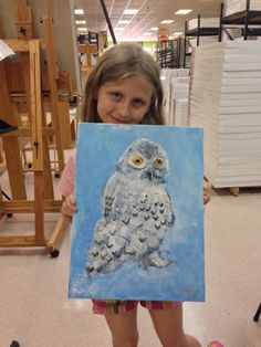Honey (9) paints an owl