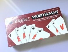Scrabble Word Rummy Card Game 1987 Selchow and Righter 2-6 Players 7+ Rare #SelchowRighter