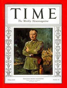 TIME Magazine Cover: Francisco Franco - Sep. 6, 1937 - Francisco Franco - Spanish Civil War - Spain - Generals - Military