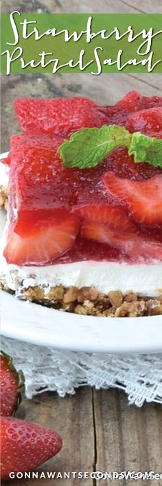 Strawberry Pretzel Salad is a nostalgic dessert that's required at all of our family parties and get togethers. This easy to put together recipe is the perfect combo of sweet and salty, creamy and crunchy! This updated recipe is loaded with fresh, ripe strawberries!
