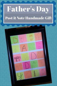Handmade Post it Note Gift for Father's Day