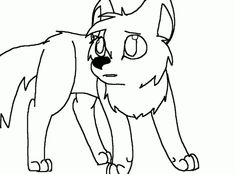 Easy Cute Baby Wolf Drawing 2