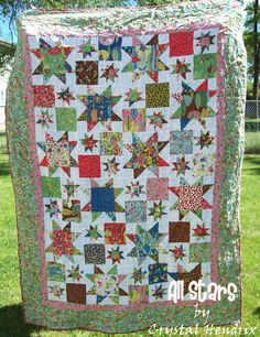 Use a Layer Cake and a Charm Pack -Moda Bake Shop: All Stars Quilt