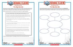 Help your THE 39 CLUES READING CLUB members think like a writer with these FREE CCSS based activity sheets!