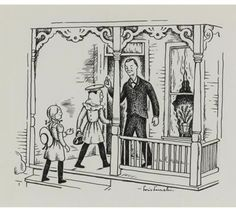 Lois Lenski illustrations, especially in the Betsy, Tacy and Tib series