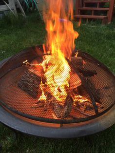 Preburn of logs for a fire pit scene