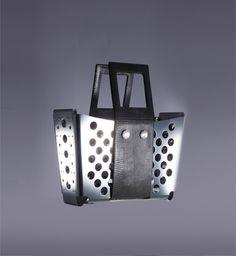 A futuristic shopping basket made of  duralumin