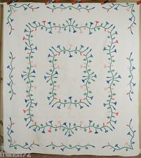 Large GORGEOUS Vintage 20's Marie Webster Morning Glory Applique Antique Quilt!