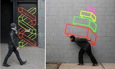 washi tape street art