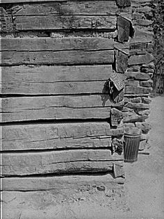 Old home made of hand hewn logs near Jackson. Breathitt County, Kentucky 8c13574u
