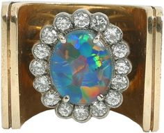 Fire Opal & Diamond Ring given to Ginger Alden by Elvis