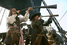 Captain Jack and Barbossa