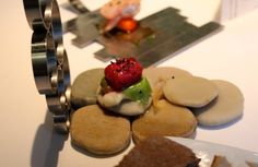 Red Codfish snack from #Arzak #Spain - Read more here: http://thechicbrulee.com/2013/08/12/arzak-a-review/