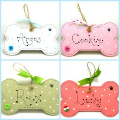 Handmade Personalised Wooden Dog Puppy Bone Sign / by 2good2beWood