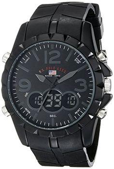 844bafe11af U.S. Polo Assn. Men s US9058 Black Analog Digital Sports Watch  watches   wristwatch