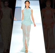 Layered sheer pastels by Vera Wang; perfect for elegant summer parties, jacket required in San Francisco (recommendations pinned) ...