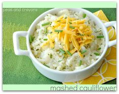 Carmelized Onion and Roasted Garlic Mashed Cauliflower...healthier alternative to mashed potatoes