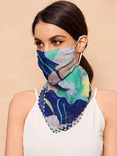 Description: Beautiful Face Masks Scarf Magnetic: No Composition: Chiffon Pattern Type: Plain Style: Casual Type: Scarf Size : Length: INCH Width: Inch Easy Face Masks, Half Face Mask, Diy Face Mask, Le Jolie, Fashion Face Mask, Creation Couture, Diy Mask, Mask Design, Sewing Patterns Free
