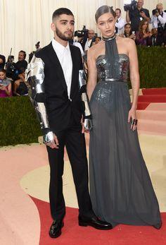 Zayn Malik in Versace & Gigi Hadid in Tommy Hilfiger for the met Gala