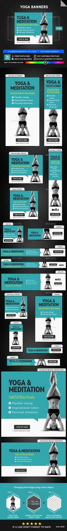 Yoga Banners Template PSD