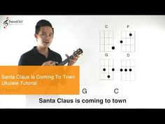 """How to play """"Santa claus is coming to town"""" on the ukulele - YouTube"""