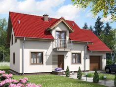 DOM.PL™ - Projekt domu ARD Frezja 2 paliwo stałe CE - DOM RD1-78 - gotowy projekt domu